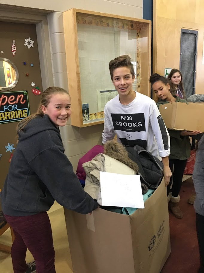 DRK Social Justice Club Collects Clothing & Basic Supplies for Kelowna Gospel Mission