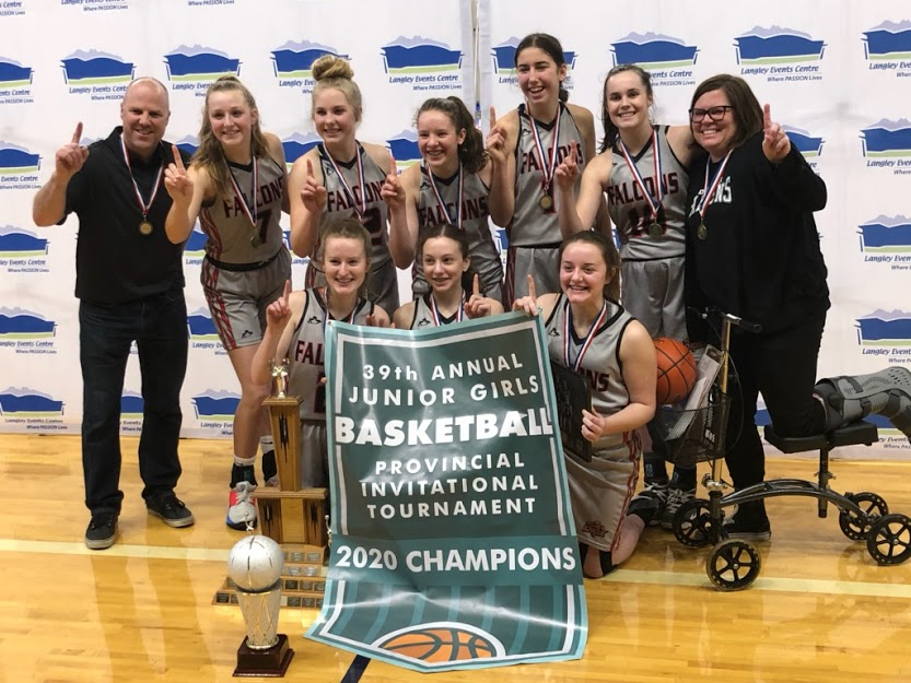 Congrats to the Dr. Knox Grade 9 Basketball Team!  Jr. Girls 2020 Provincial Champs!!